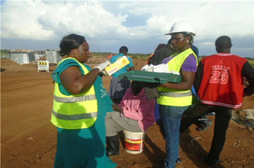 Networth Consult Health Team doing its work alongside the Road works in Katakwi District