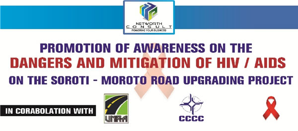 Banner Displayed to bring about the Awareness of HIV/AIDS on the Road Project
