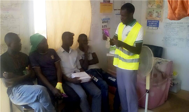 Networth team of health workers carry out testing services at the site clinic